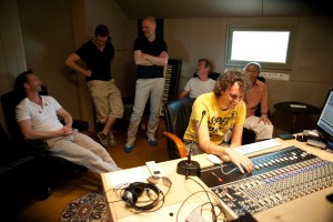 POLDER in studio controlebooth